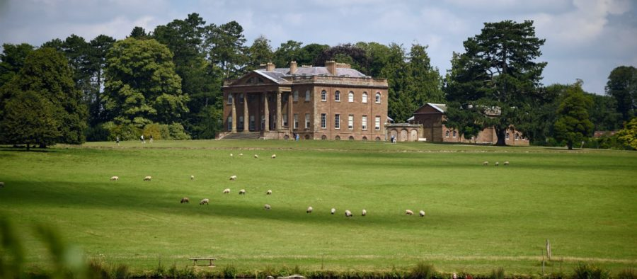 Berrington Hall External view with parkland and trees