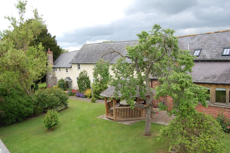 View of Lowe Farm B&B from garden