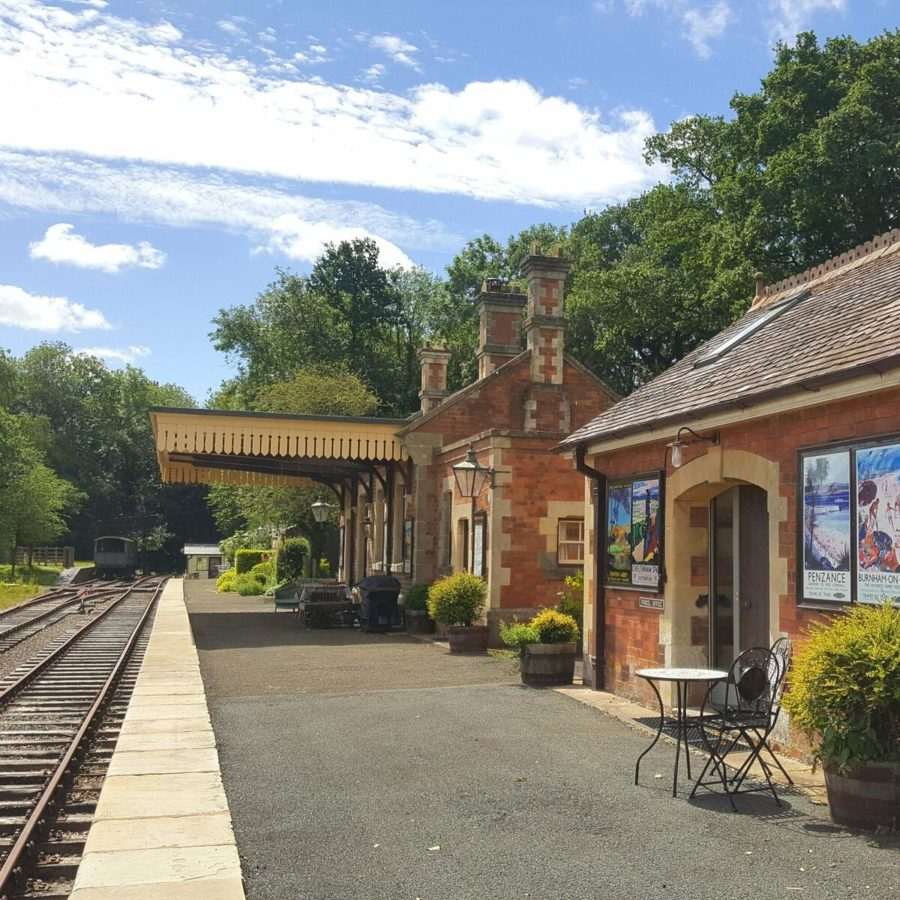 Rowden Mill station, closed railway station now self catering accommodation showing platform