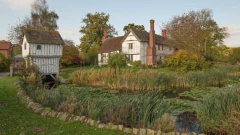 Brockhampton timberframed house with gatehouse and gardens