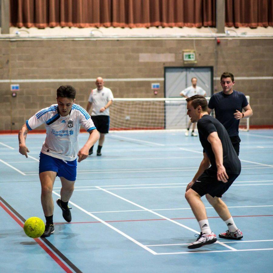 Indoor Football being played at Bridge St