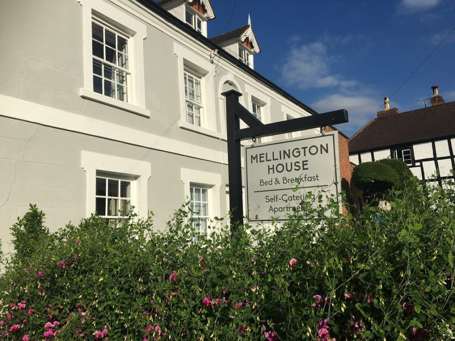 Mellington House and sign